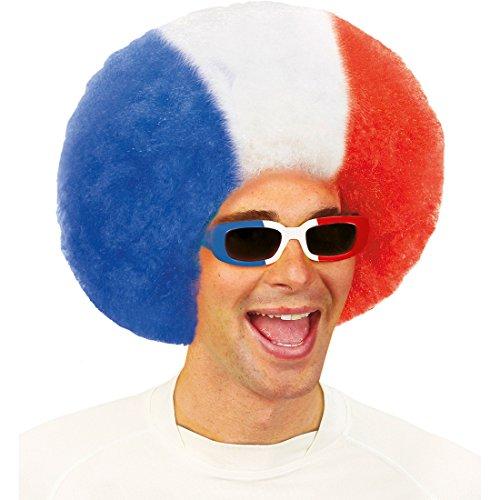 Amakando Französische Sonnenbrille - blau-Weiss-rot - Partybrille Tricolore Spaßbrille Paris Fußball Fanbrille WM EM Funbrille Eifelturm Retro Brille Frankreich