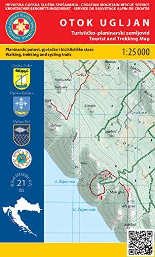 Otok Ugljan 1:25.000 carte de randonnée (Croatie)