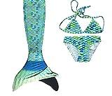 Meerjungfrauen Flosse mit Überzug Bikini und
