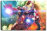 Ironman Motiv auf Leinwand im Format: 120x80 cm. Hochwertiger Kunstdruck als Wandbild. Billiger als ein Ölbild! ACHTUNG KEIN Poster oder Plakat!