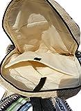 Handgemachter Rucksack / Daypack / Backpack aus natürlichem Hanf mit Laptop-Tasche - UNISEX - MADE IN NEPAL (Blue Stripes) - 5