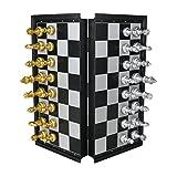 MUJIA Scacchi Portatili Magnetica Scatola da Viaggio Magnetici Scacchiera Tavolo 25 x 25 cm