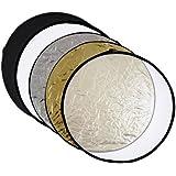 meymoon panneau réflecteur argent ; noir ;or ; blanc/ Diffuseur pliable 110 cm Photo; Studio, réflecteur pliable 5 en 1 avec sac de transport