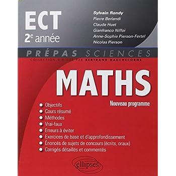 Maths ECT 2e Année Programme 2015