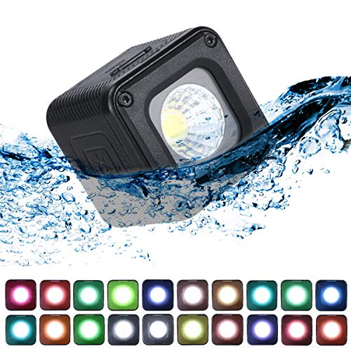 Pro Mini LED Video Light Waterproof W 20 Filtres de Couleur pour GoPro,  Appareils Photo, Poche OSMO, Action OSMO, Prise de Vue DSLR Prise de Vue