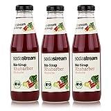 SodaStream Getränke-Bio-Sirup Rhabarber Geschmack 500ml (3er Pack)