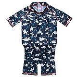 UxradG Einteiligen Mädchen Jungen Auftrieb Weste Anzug Baby Kleinkind Kind Schwimmhilfe für 0–3Jahre Kleinkind Kind, Blue Dino, S