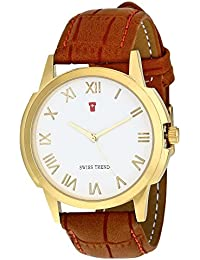 Swiss Trend Elegant White Dial Men's Watch With Roman Numerals Men's Watch|Boy's Watch