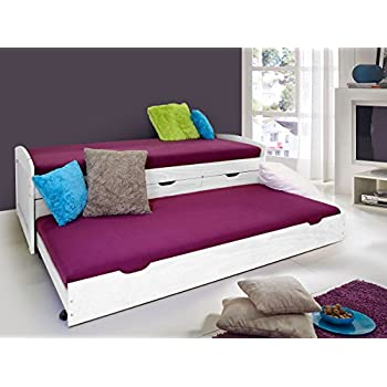 bett kinderbett ausziehbett massiv kiefer 90x200 pd02. Black Bedroom Furniture Sets. Home Design Ideas