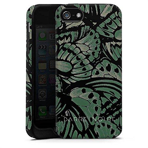 Apple iPhone X Silikon Hülle Case Schutzhülle BARRE NOIRE Mode Schmetterling Tough Case matt