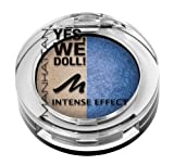 Manhattan Yes, we doll! Intense Effect Duo Eyeshadow Nr. 03 Mary Marionette Farbe: Gold / Dunkelblau Inhalt: 5g gebackener Lidschatten für Smokey Eyes. Eyeshadow für strahlen schöne Augen.