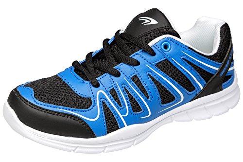 gibra Sneaker Sportschuhe, Art. 2037, Sehr Leicht und Bequem, Schwarz/Blau, Gr. 39