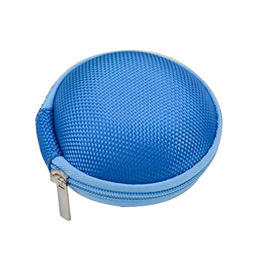 Transer® Round Case for Fidget Hand Spinner- Gift forocus ADHD Autism Finger Toy Bag Box Carry Packet (Light Blue)