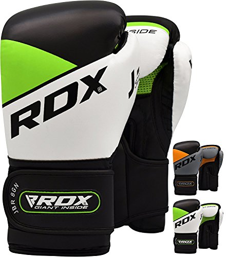 RDX Boxhandschuhe Kinder Muay Thai Boxsack Training Sparring Kickboxen Sandsack Junior Maya Hide Leder Boxing Gloves