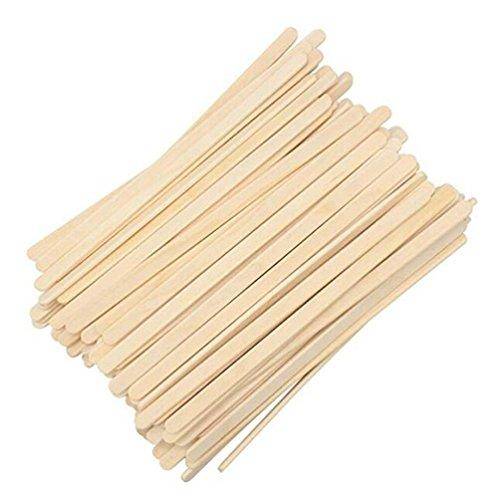 Beliebtes Kaffee Stir Sticks Birke Holz ideal für mischen Kaffee andere Getränke Einweg Tee Getränk Rührwerk 190mm (19,1cm) Premium Qualität (100Stück) -