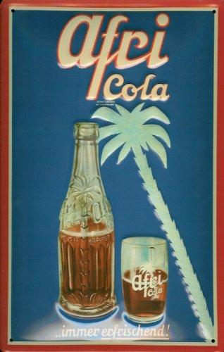 Blechschild Nostalgieschild Afri Cola immer erfrischend Palme retro Werbung Schild