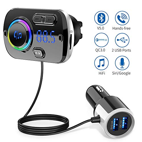 Bluetooth FM Transmitter 5.0 Auto Radio Adapter