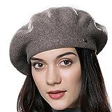URSFUR Frauen Weiche Baumwoll Mütze Hochwertige Strickmütze Kappen Beanies-braun
