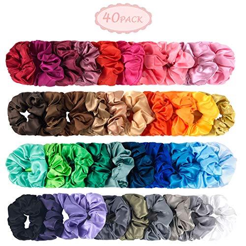 Samt-scrunchie (Haar Scrunchies - 40 Stück Samt Scrunchies Elastisch Bobbles Haargummis Samt bunte Haarbändern Hairtie für Damen Haarschmuck (Colorful StyleG))
