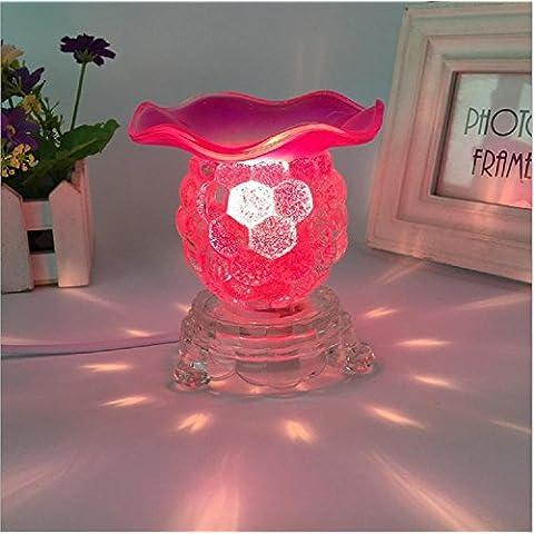 Vetro cristallo piccola uva olio essenziale fragranza regali oscuramento/fotografia piccola lampada da tavolo - Medio Dei Dipendenti Regalo