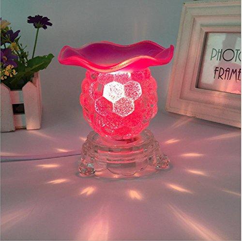 ZHIYUAN Vetro cristallo piccola uva olio essenziale fragranza regali oscuramento/fotografia piccola lampada da tavolo - Medio Dei Dipendenti Regalo