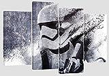 Star Wars Stormtrooper Kunstwerk/Set, 1 Motiv auf 4einzelne Leinwände gedruckt, 110cm x 70cm