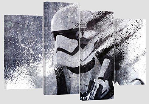 Star Wars Stormtrooper Kunstwerk/Set von 4neue Leinwand Split Prints 109,2x 71,1cm oder 110cm x 70cm
