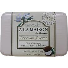Manos y cuerpo jabón, crema de coco, 8.8 oz (250 g) -
