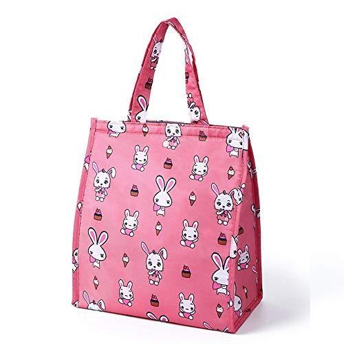 Shukun Isolierung Taschen Studenten tragen Taschen Buffon Lunch Box Taschen Wärme Erhaltung Taschen Handtaschen mit Mahlzeiten Handtaschen Canvas Taschen Lunch Box, Pink