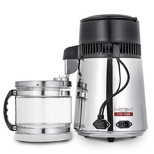 Cueffer 4L Destilador de Agua 220V 750W Purificador de Agua Filtro de destilación de agua Pura Destilación...