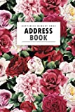 Address Book: Red Rose | A Happiness Address Book **with A-Z Tabs** Address, Phone, Email, Emergency Contact, Birthday