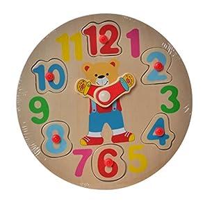 Item- Reloj Encajes Madera, 20 cm (JE-145207)