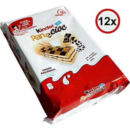 Kinder PaneCioc Süssbrotschnitte mit Schokoladenfüllung VPE (12x300g Packung)