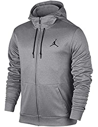 Nike 23 Alpha Therma FZ Hoodie Sudadera, Hombre, Gris (Carbon Heather/Black