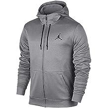 Nike 23 Alpha Therma FZ Hoodie Sudadera, Hombre, Gris (Carbon Heather/Black