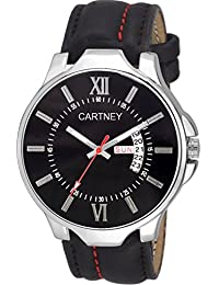 Cartney Analog Black Dial Day & Date Watch For Men & Boy's (DDB3)