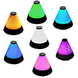 PIXNOR LED Nacht Licht Drahtlose Bluetooth Freisprecheinrichtung Audio-Player Radio (Schwarz)