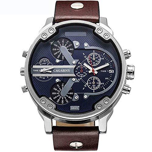 JEAMS Uhren Mann Uhren Große Handuhr Leder Uhrenarmbänder Quarz Hochwertige Männliche Armbanduhr Geschenke, C. (Leder-uhrenarmbänder Hochwertige)