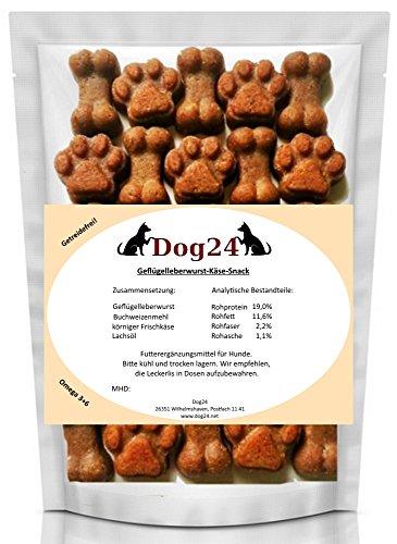 hundeleckerlis-snack-geflugelleberwurst-getreidefrei-glutenfrei-allergicopet-knochen-pfotenform-ohne