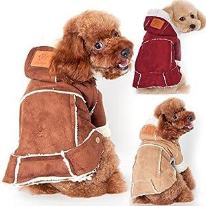 Gosear reg; Chien d'hiver berbère Fleece Hoodie pour animaux vêtements veste manteau vêtements accessoires vestimentaires
