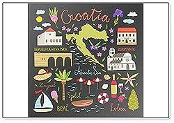 """Kühlschrankmagnet, Motiv""""Ibiza"""", mit Symbolen und Illustrationen"""