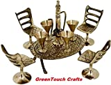 Handicrafts Gift House Unique Design Dining Table Chair Maharaja Set -196