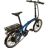 REMINGTON Faltrad Urban Folder 20 Zoll  E-bike Klapprad Pedelec StVZO, Farbe:blau - 2