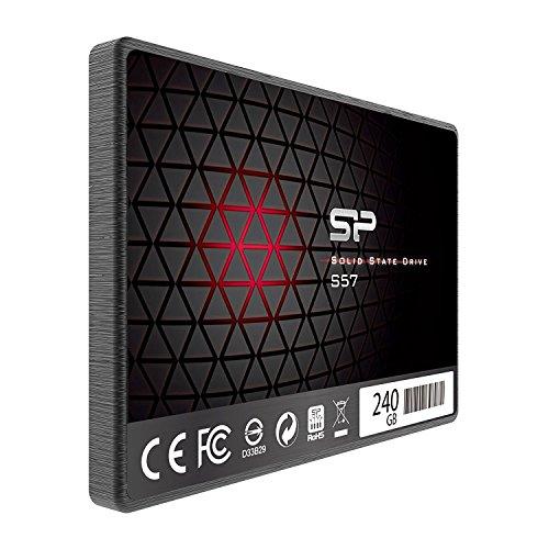 Silicon Power S57 - Disco Duro sólido Interno SSD de 120 GB (2.5', SATA III, TLC 7 mm, Controlador Marvell) Color Negro