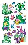 Avery Zweckform 54055 - Pegatinas para niños, modelo con ranas, efecto 3D, 12 pegatinas