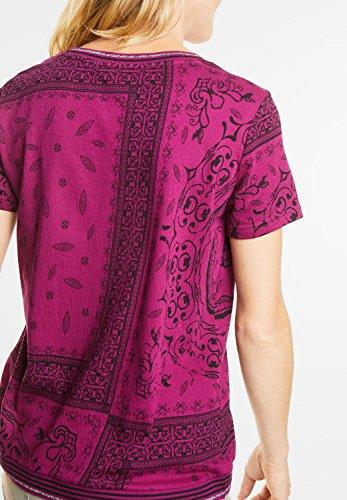 CECIL Damen Shirt mit Glitzerbündchen deep pink (beere)
