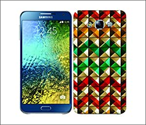 Galaxy Printed 2638 Printed Studs & Patterns Chev Hard Cover for Samsung E5
