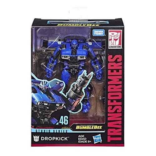 Transformers E3699ES0 Spielzeuge Studio Serie 46 Deluxe-Klasse Bumblebee Film Dropkick Action-Figur - Ab 8 Jahren geeignet, 11 cm groß, blau (Bumblebee Transformation Transformers)