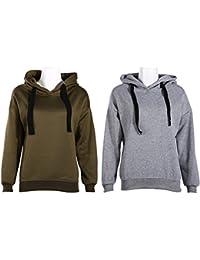 Domybest Frauen Mode Hoodie Sweatshirt Lässige Kapuzenmantel Pullover  Pullover Tops fd7c402bf0