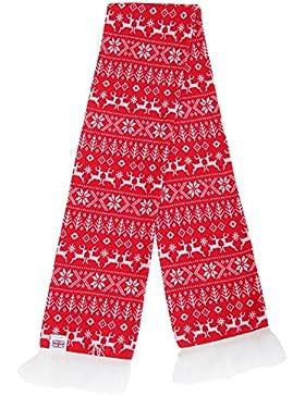 FLOSO - Bufanda de invierno Diseño Navideño con flecos